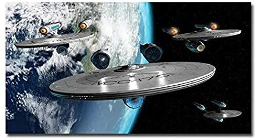 Hncsy Diamond Painting Kit Completo De Bordado De Diamantes De Imitación DIY 5D Mosaico Decoración Punto De Cruz Artesanía De Arte De Diamante Completo, Star Trek-40X80Cm-Taladro Redondo