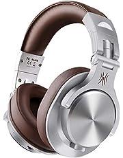 OneOdio Bluetooth Koptelefoon over ear met microfoon, [tot 72 uur] Draadloze Koptelefoon 40 mm Drivers, stereo bass koptelefoon, opvouwbaar voor E-Drum Piano Gitaar AMP-opname en monitoring