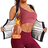 Wonderience Sweat Vest for Women Workout Training Heat Trapping Zipper Sauna Vest(Black, Small)