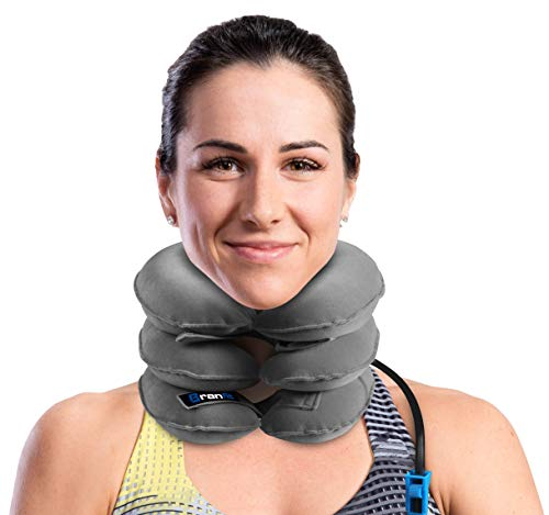 Cervical Neck Traction Device and Collar Brace by BRANFIT, Inflatable and Adjustable USA Designed...