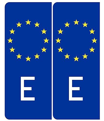ETIKIDS 2 Pegatinas Matrícula Vertical Europea...