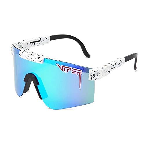 Gafas De Bicicletas Gafas Deportivas Pit Viper Eyewear Tr90 Blue Marco Lente Espejado A Prueba De Viento Sport Fashion Hombres Polarizados Hombres Polarizados para Mujer Uv400-C-10