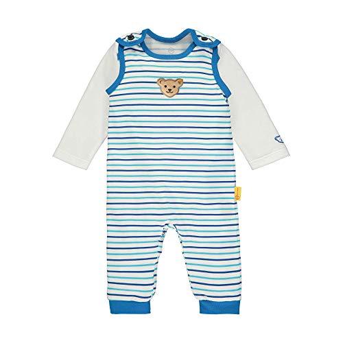 Steiff Baby-Jungen Set Strampler + T-Shirt Langarm Bekleidungsset, Weiß (Bright White 1000), 80 (Herstellergröße: 080)