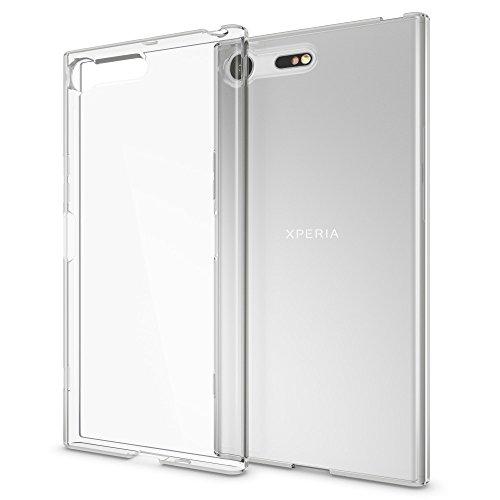 NALIA Custodia compatibile con Sony Xperia XZ Premium, Cover Protezione Silicone Trasparente Sottile Gel Case, Copertura Gomma Lucida Morbido Ultra-Slim Protettiva Telefono Cellulare Bumper Guscio