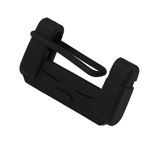 Vorcool - Copri fibbia per cintura di sicurezza auto, in silicone, nero