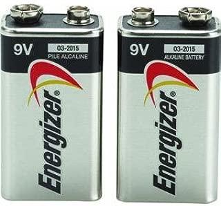 9V Batteries, 2 Count - Energizer MAX Premium Alkaline 9 Volt