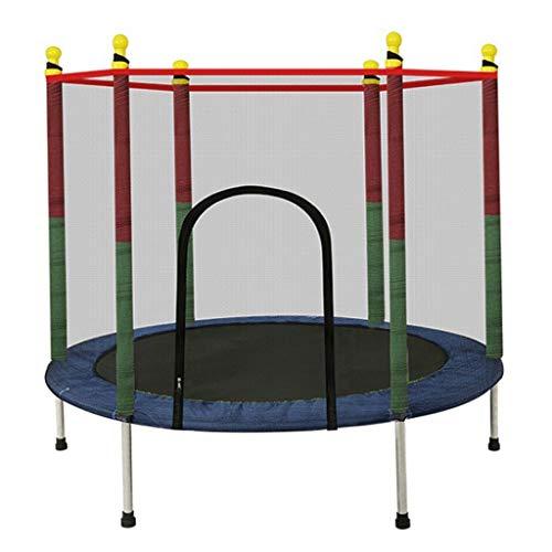 LKFSNGB Mini-trampoline voor kinderen, tuintrampoline met veiligheidsnet, waterdichte PVC-afdekking, 140 cm kleine speelgoedtrampoline voor binnen en buiten