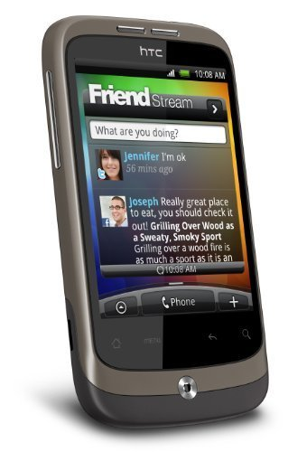 HTC Wildfire Smartphone (8,1 cm (3,2 Zoll) Bildschirm, Touchscreen, 5 Megapixel Kamera, Android 2.1, ohne Branding) [UK Import] schwarz