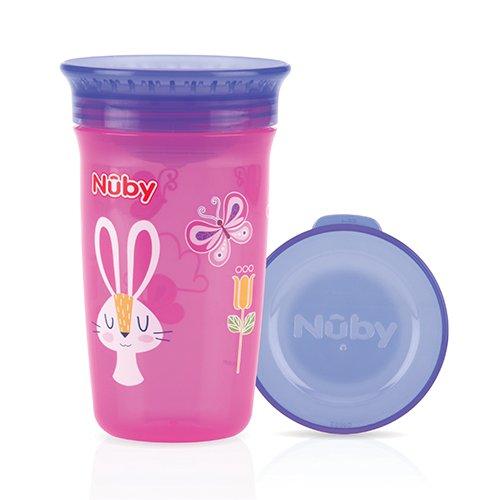 Nûby - Gobelet Magique 360° - 300ml - 6 mois - Rose Bonbon