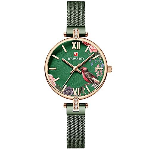 RORIOS Moda Mujer Relojes Impermeable Analógico Cuarzo Relojes con Correa en Acero Inoxidable Elegance Relojes para Mujer Chica
