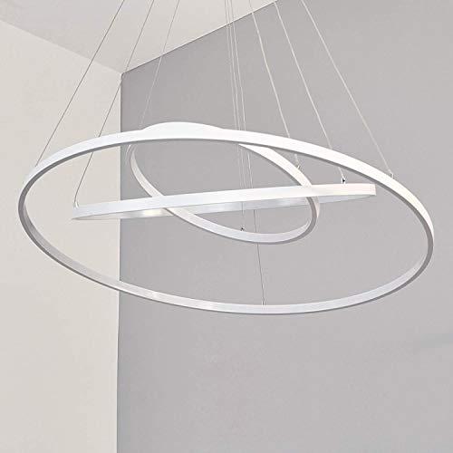 lampadario a sospensione a 3 luci TECNO&LED - Lampadario a sospensione LED moderno 3 anelli luce calda