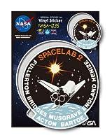 NASAステッカー SPACELAB 2 ロゴ エンブレム 宇宙 スペースシャトル NASA035 グッズ