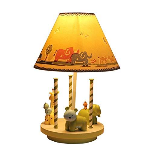 L.W.S Lámpara de Escritorio Lámpara Creative Dibujos Animados cálido Lindo lámpara Ajustable carrusel decoración Ley Regalo de la Lectura de la habitación de los niños lámpara de Noche de la Cama