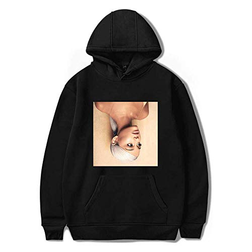 nuannuan 3D Print Ariana Grande Felpa Ragazze Sportswear Sweet Top Pullover Felpa con Cappuccio Sweet Singer Girls Long Lady Casual Allentato XXS-4XL