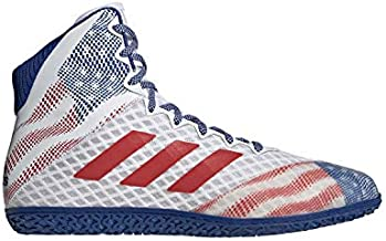 adidas Mat Wizard Hype White/Royal/Red Wrestling Shoes 11.5
