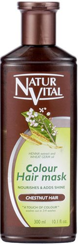 NATUR VITAL | Hair Coloring Treatment | Hair Mask N Chestnut for Gray Hair 300ml (Japan Import)