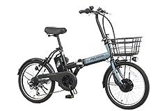 PELTECH(ペルテック) 折り畳み電動アシスト自転車 20インチ折り畳み外装6段変速 【簡易組立必要品】(TDN-208) (ブルー×ブラック)