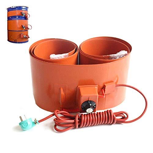 Calentador de Tambor Aislado Silicio Metal Calentador De Tambor Rotación Ajustable Termostato para bidones de 53 Galones/200 litros, 250 x 1740mm/3000W, 220V