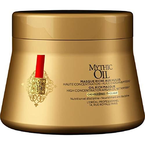 L\'Oréal Professionnel Paris Mythic Oil Maske Kräftiges Haar, Pflegemaske für Glanz & Geschmeidigkeit, Haarpflege angereichert mit Öl, nährt strapaziertes & trockenes Haar intensiv, 200 ml