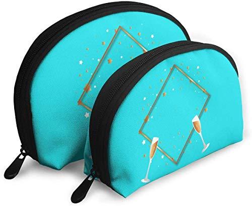 Golden Square Border Shellfish Cosmetic Bag Shell Shape Portable Storage Bags Pochette de Toilette de