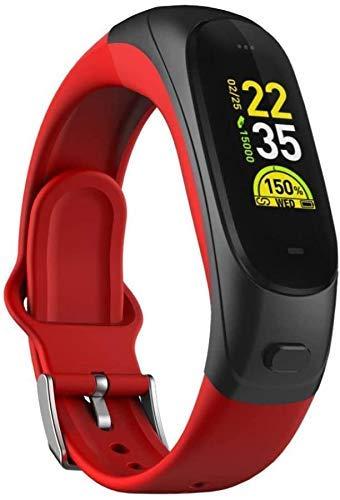 GANG Fitness Tracker Smart Fitness Tracker/Smart Pulsera, Monitor de Sueño Bluetooth Auricular Pretómetro Pulsera Inteligente, Pulsera para Niños Mujeres Hombres Deporte Fitness T