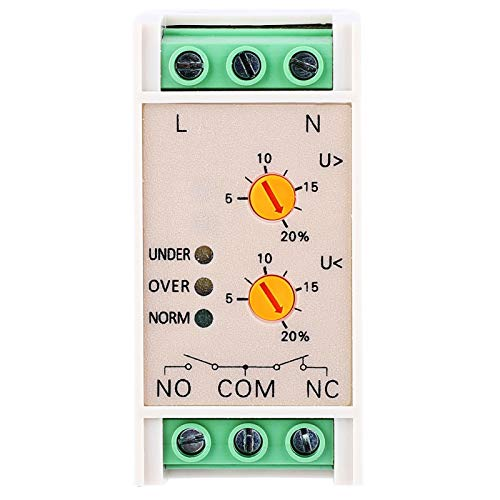 Single Phase Voltage Protective Device 3 Indicators Voltage Monitoring Power Monitoring Relay for Building Electronics Projects