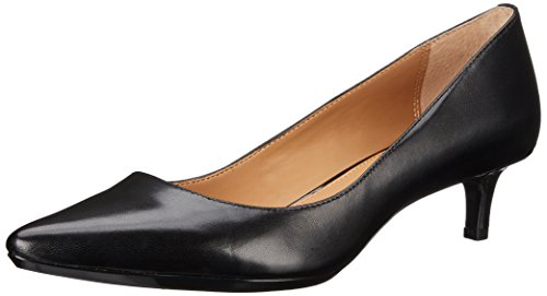 Calvin Klein Women's Gabrianna Pump, Black Leather, 8 Medium us
