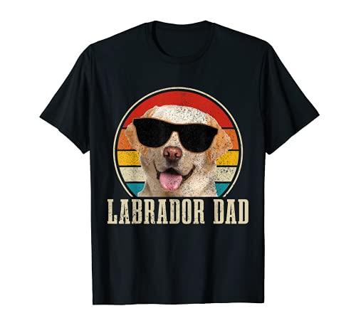 メンズ ラブラドール ダッドヴィンテージサングラス 面白いラボ犬 Tシャツ