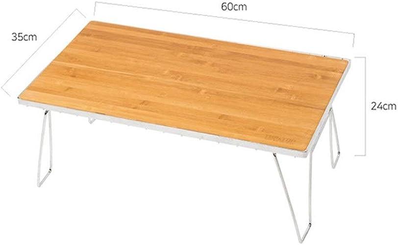 Zhaolan-Outdoors Supplies Fournitures de Camping portatives en Plein air Table de Camping Pliante en Bambou Amovible avec Cadre en métal