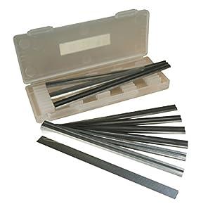 Caja de 10 – 82 mm de carburo de cuchillas reversibles para cepilladoras Makita, Black & Decker, Bosch, DeWalt y Elu