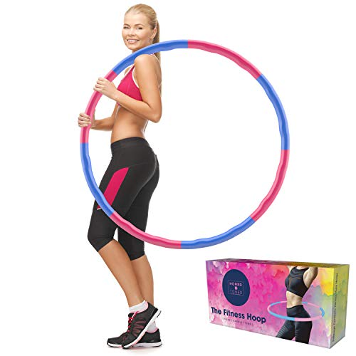 Weighted Fitness Hula Hoop  Get Into Shape The Fun Way  Soft Foam Padded Detachable Adjustable  For Lasting Weight Loss  Family Fun and Exercise  Low Impact High Calorie Burn