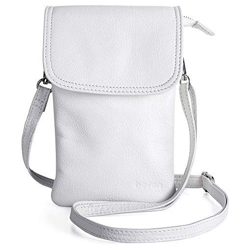 Genuine Leather Phone Bag,befen Real Leather Phone Purse, Small Phone Cross Body Bag for Women with Long Strap and Key Ring - Fit 8 Plus or Phone Less 6.5 Inch