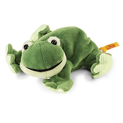 Steiff Floppy Cappy Frosch - 16 cm - Kuscheltier für Kinder - Plüschfrosch - weich & waschbar - grün - (281235)