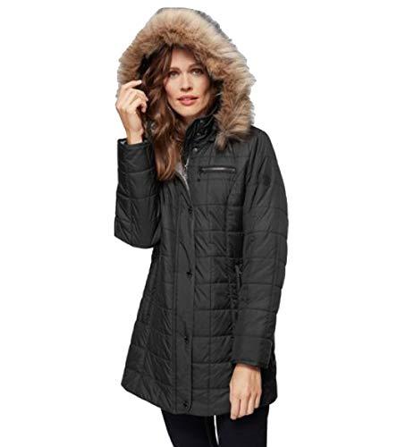 WINDFIELD by Danwear Jacke warme Damen Steppjacke mit Windschutz Outdoor-Jacke Übergangs-Jacke Schwarz, Größe:40