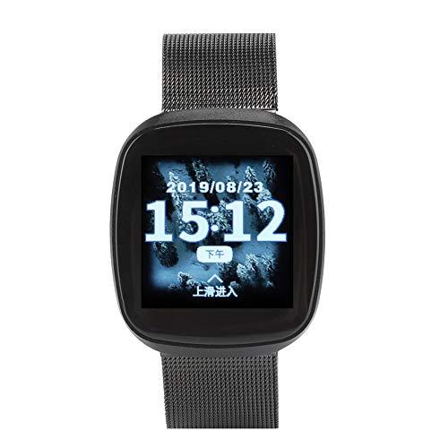 Cloudbox Deportes Smartwatch TLWT2 negro impermeable 1.3 pulgadas metal ritmo cardíaco salud inteligente pulsera reloj smartwatch silicona