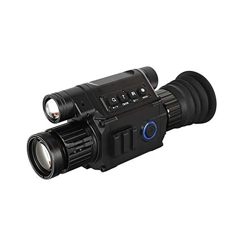 JDUEFD Wärmebildkamera 6.5X 12X Nachtsicht Zielfernrohr Fernglas mit eingebautem IR Illuminator, Aufnahme von Bild und Videowiedergabe
