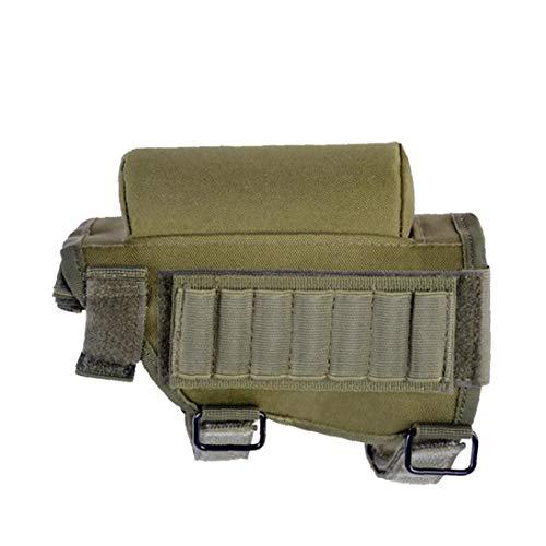 KHHGTYFYTFTY Culata del Rifle Munición Titular de la mejilla del cojín Multifuncional Cartuchos Titular Utility Pouch Ejército Verde 1pc