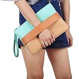 Bolsos Mujer Bolso De Mujer Patchwork Sólido Lady Day Embragues Costura Popular Paquete De Cremallera Suave Bolsos De Embrague De Moda Marrón