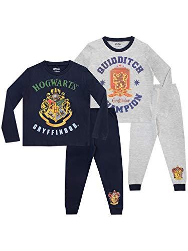 Harry Potter Pijamas de Manga Larga para Niños Hogwarts 2 Paquetes 12
