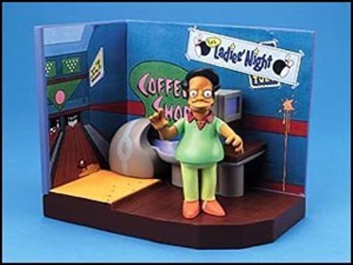 Simpsons Bowl-A-Rama playset with talking Pin Pal Apu figure by Playmates Toys