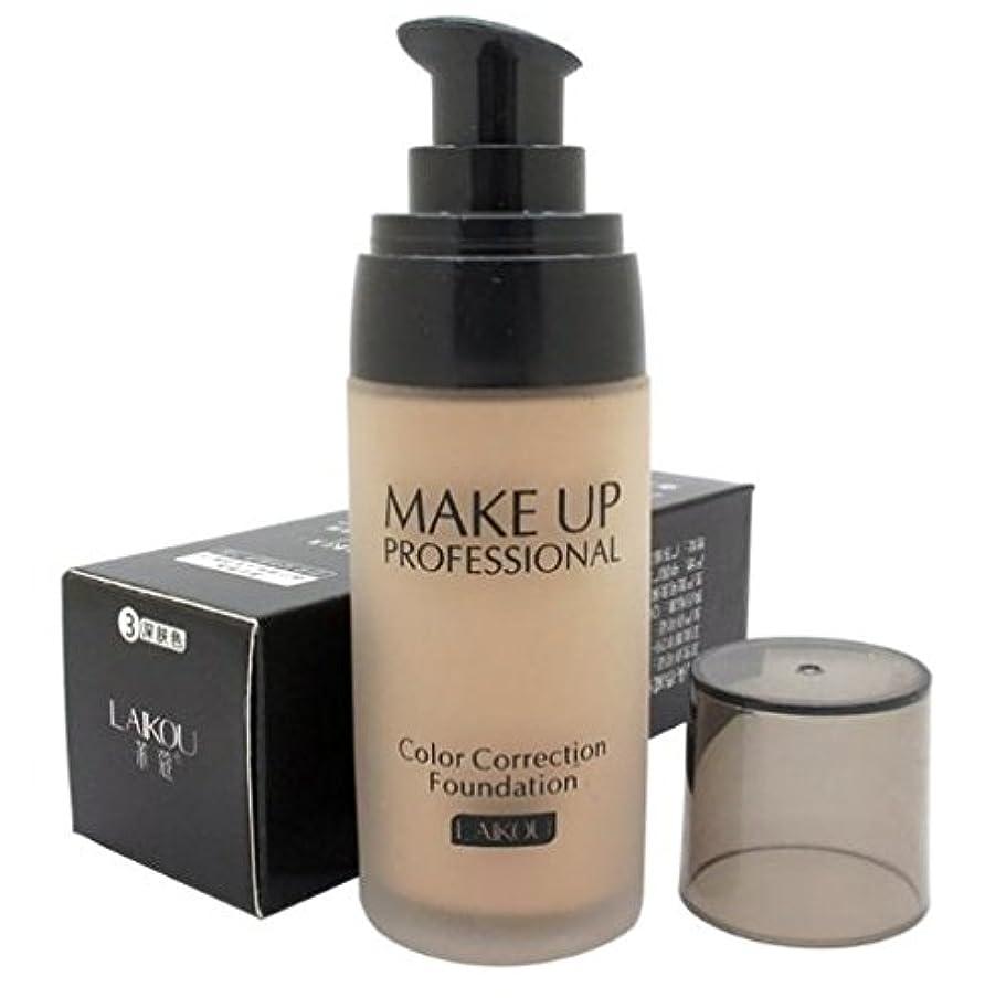 くびれたスケルトンまつげ40 ml Whitening Liquid Foundation Concealer Moisturizer Oil-control Waterproof Makeup NO.3