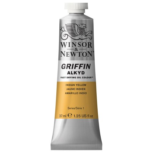 Winsor & Newton Griffin Alkyd Fast Drying Oil Colour Paint, 37ml tube, Indian Yellow