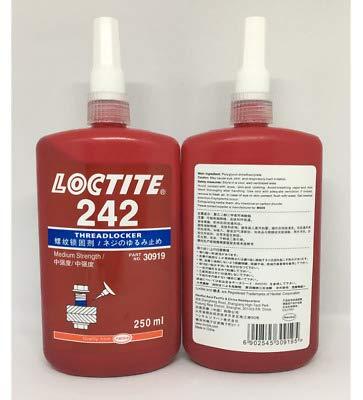 Genuine Henkel Loctite 242 Blue Medium Strength Threadlocker, 250 mL Bottle