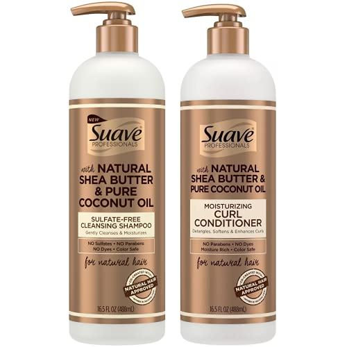 Suave Professionals With Natural Shea Butter & Pure Coconut Oil Shampoo & Conditioner Set 16.5 oz.