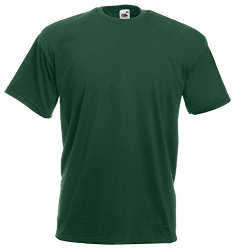 Fruit of the Loom Valueweight T-Shirt Flaschengruen XXL