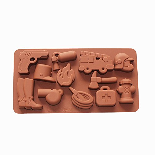 X-Haibei Fire Fighting Equipment Shape Silicone Chocolate Candy Jello Soap Crayon Mold