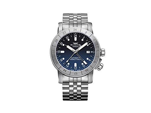 Glycine Airman Automatic Blue Dial Mens Steel Watch GL0064