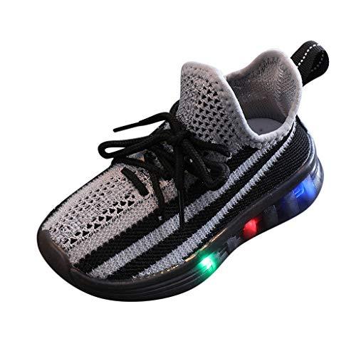HDUFGJ LED Lampe Schuhe Turnschuhe Outdoor Leuchtend Sportschuhe Blinkschuhe Leuchtschuhe Mesh Soft Soled Laufschuhe für Jungen Mädchen
