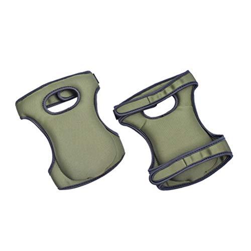 Macabolo 1 paar kniebeschermers, verstelbare strap kniepads met zachte schuimvulling voor het schoonmaken van het werk en de tuin
