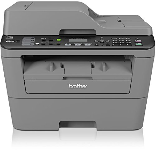 Brother MFC-L2700DW Monolaser-Multifunktionsgerät (Drucker, Kopierer, Scanner, Fax, 2400 x 600 dpi, WLAN, USB 2.0) grau
